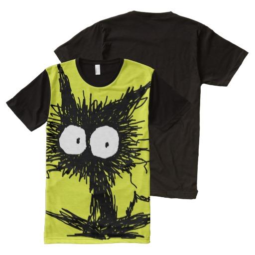 Black Unkempt Kitten GabiGabi All Over Print Shirt1