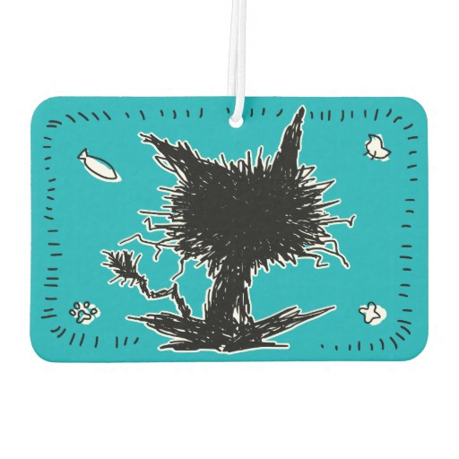 Black Unkempt Kitten GabiGabi Emerald Sea Air Freshener2