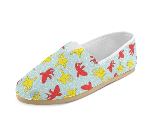 Comical funny Quarrel cat Asian illustration Women's Casual Shoes (Model 004) _ ID_ D608374 - Google Chrome -20160822-07303