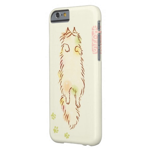 Fluffy Sleepy Cat Barely There iPhone 6 Case2