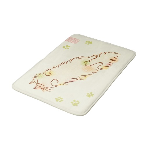 Fluffy Sleepy Cat Bath Mats3