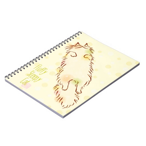 Fluffy Sleepy Cat Note Books2