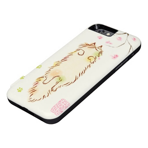 Fluffy Sleepy Cat Plum blossom iPhone 6 Case5