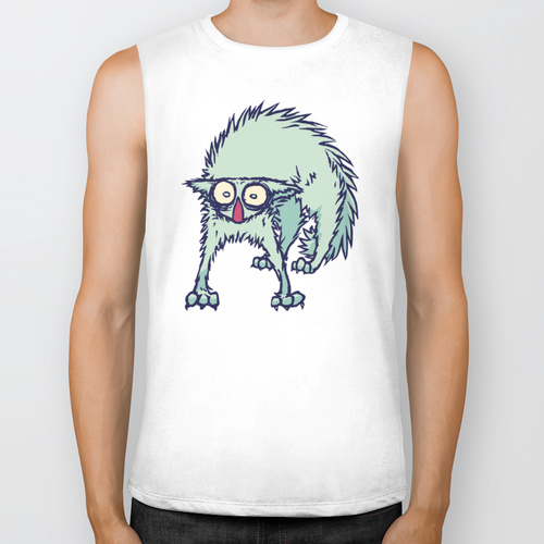 Freaked out Cat BIKER TANK