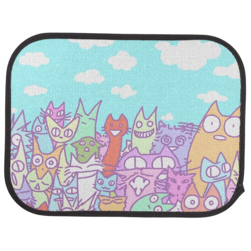 Lot Cats Car Mats Full Set