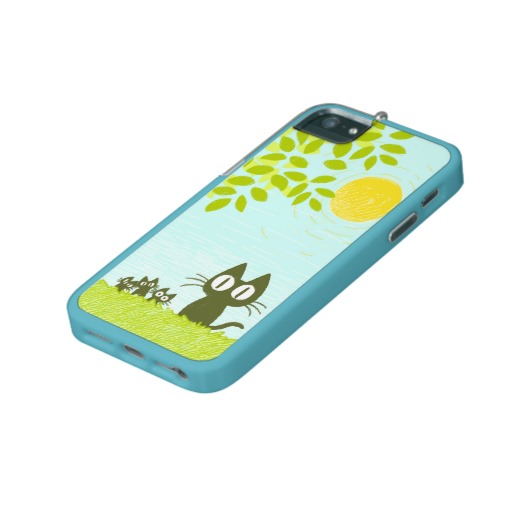 Sun and Leaves and Black Cat iPhone 5 Cover