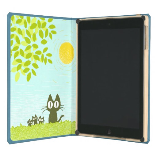 Sun and Leaves and Black Cat iPad Air Cover
