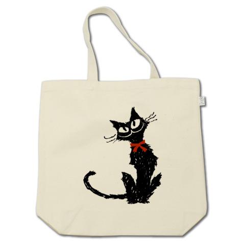 赤いリボンと黒い猫