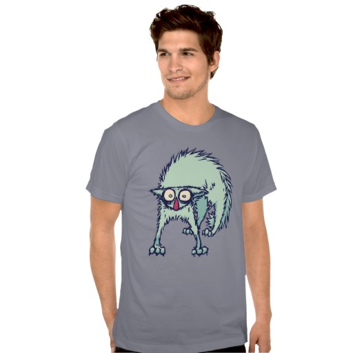 Freaked out Cat Tee Shirts